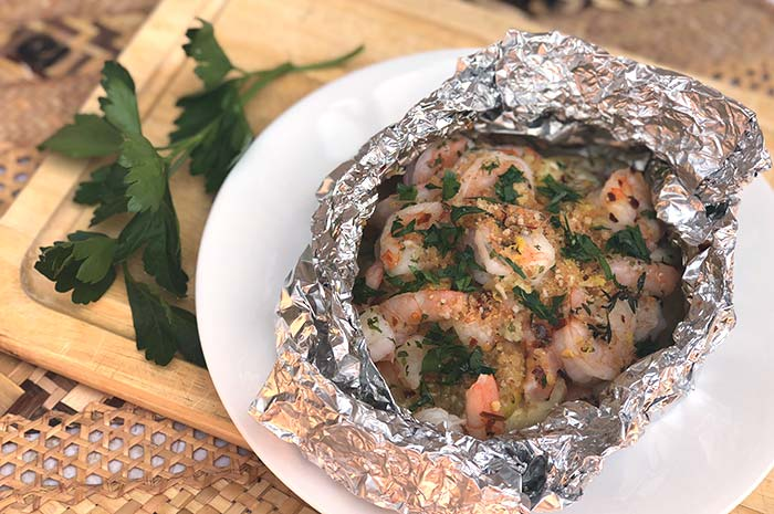 Shrimp Scampi Foil Packets (Oven or Grill)