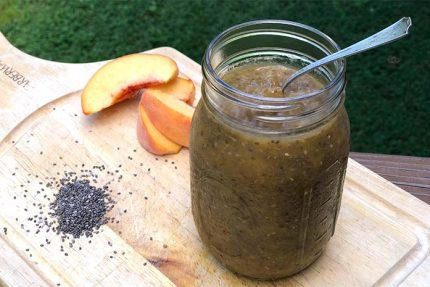 Peach Chia Jam (No Added Sugar)
