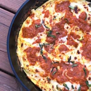 Pizza Frittata (Chicken Tikka Masala Frittata)