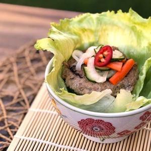 Banh Mi Chicken Burger Lettuce Wrap