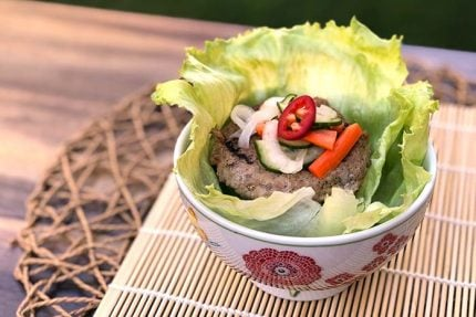 Banh Mi Chicken Burger Lettuce Wraps
