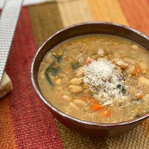 White Bean Lentil Soup (Instant Pot)