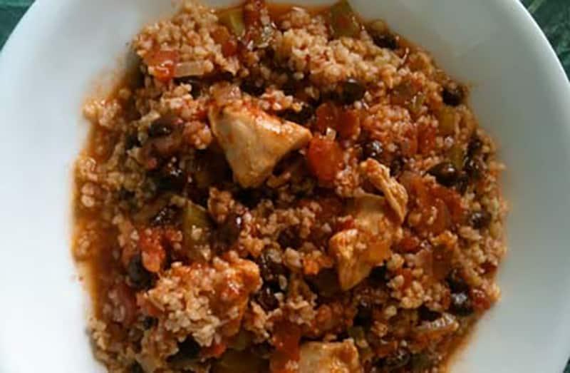 Black Bean Chicken Chili With Bulgur Diabetic Foodie