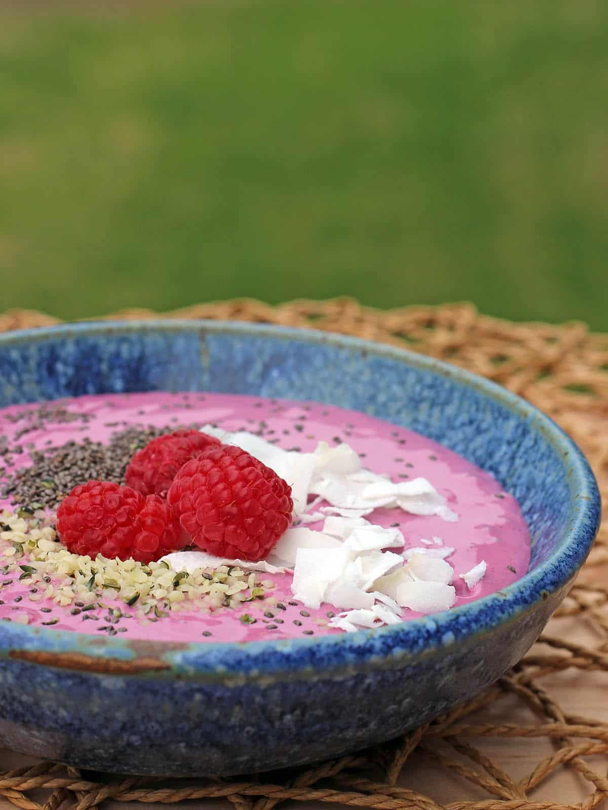 Close-up of the smoothie bowl