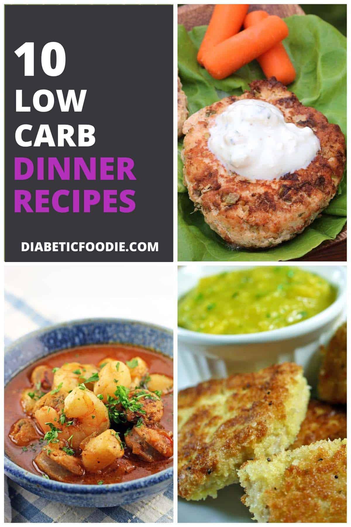 10 Low-Carb Dinner Recipes for Diabetics