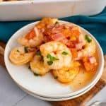Garlic and Tomato Roasted Shrimp
